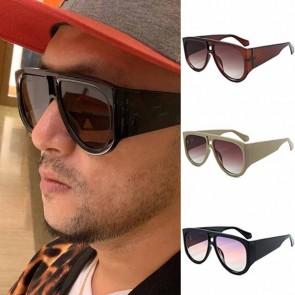Retro Disco Flat Top Aviator Sunglasses