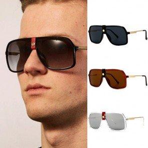Origin & future leather nose bridge aviator sunglasses
