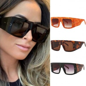 Oversized Futuristic Goggles Side Wrap Sunglasses