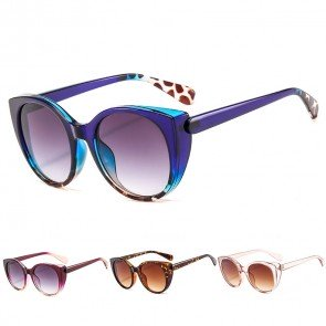 Vintage two tone frame cute cat's eye sunglasses