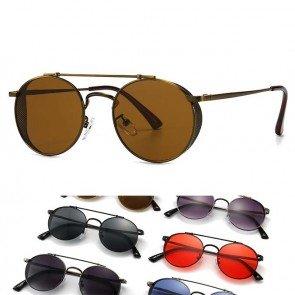 Goth vintage steampunk mesh side shields sunglasses