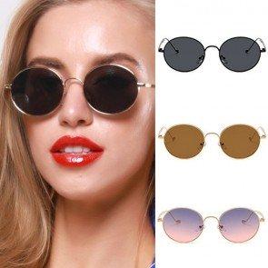 Vintage Round Metal Frame Classic Cute Sunglasses