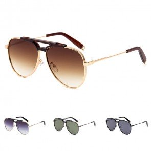 Metal Frame Acetate Nose Bridge Cool Pilot Sunglasses