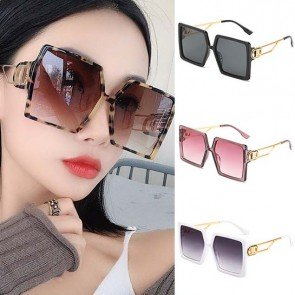 Square Sunglasses Big Frame Luxury Flat Top Shades