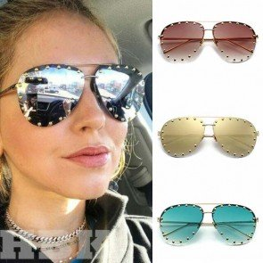 Aviator-style sunglasses reference season's palette