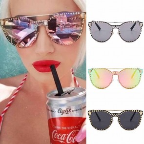 Cat eye sunglasses luxury studded oversized frame