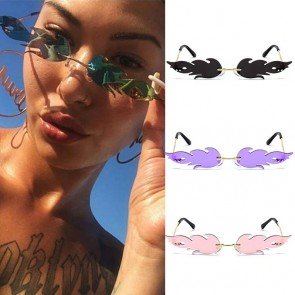 Ladies hot fire sunglasses costume small one piece lens