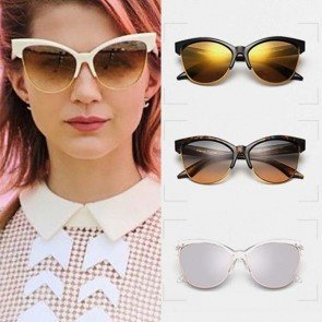 Sunglasses Womens Butterfly Shades Cat Ear Eyewear