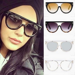 Eyewear Metal Frame Cat Eye Sunglasses w/ Flying Wings