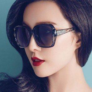Bling Luxury Oversized Butterfly Gradient Sunglasses