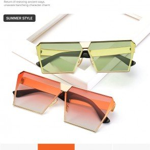 Oversize Sunglasses Squared Flat Lens Summer Accessory
