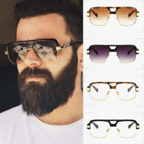 Flat Top Retro Frames Oversized Clubmaster Sunglasses