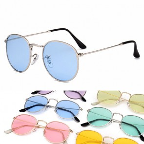 Vintage chic sunglasses distinctive round candy lens