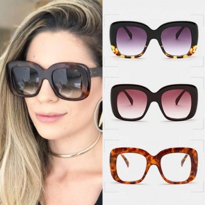 Lifestyle Square Retro Multi-color Oversize Sunglasses