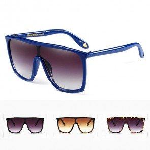 Flat Top Big Size Aviator Bold Statement Sunglasses