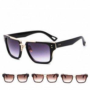 Flat top modern gradient tinted oversize sunglasses
