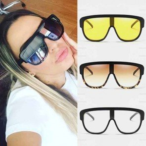 Shield lens flat top sunglasses sleek luxury shades