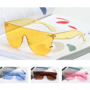 Shield Tear Drop Sun Glasses Flat Top One Piece Lens