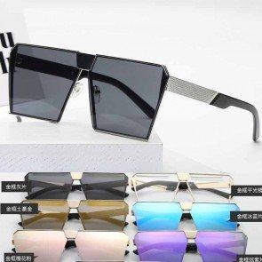 Big frame square sunglasses mirrored boxy eyewear