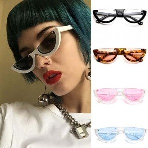 Cateye High Pointed Sunglasses Vintage Plastic Shades