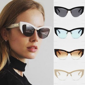 Thick Plastic Frame Retro Vintage Cat Eye Sunglasses