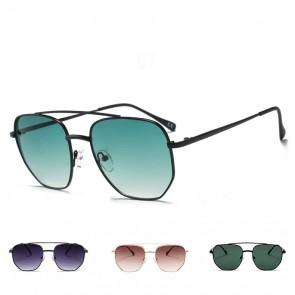 Hexagon Lightweight Metal Frame Vintage Sunglasses