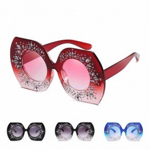 Retro party rhinestones bling oversized sunglasses