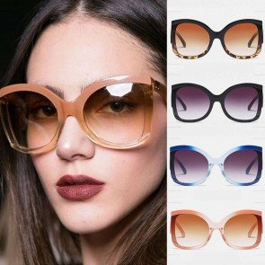 Butterfly sunglasses sleek sweet color oversize frame