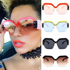 Bold modern sunnies dramatic colorful hexagon shades
