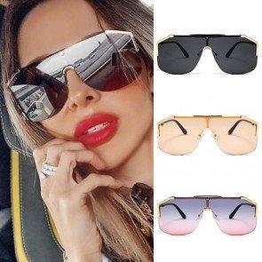 Mask aviator sunglasses oversized goggle spectacles
