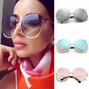 Women Luxury Oversized Rimless Gradient Sunglasses