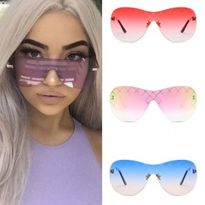 Chic aviators lightweight frame transparent candy lens