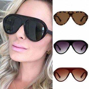Flat Top Acetate Oversized Frame Aviator Sunglasses
