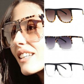 Glossy hawksbill frame playful flair flat top sunglasses