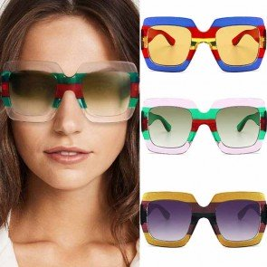 Multicoloured Sporty Oversized Square Sunglasses