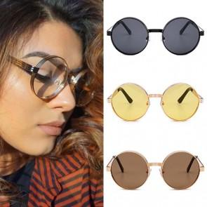 Modern Translucent Flat Lens Retro Lennon Sunglasses