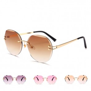 Vintage chic sunglasses distinctive rimless shades
