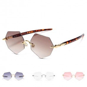 Street Fashion Candy Color Tinted Lens Metal Aviator