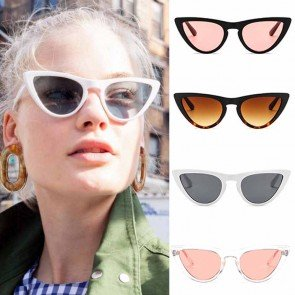 Chic Candy Colored Solid Tint Cat Eyes Sunglasses