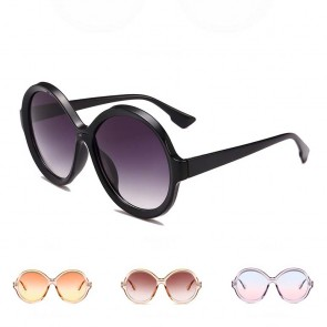 Vintage Round Colored Flat Lens Oversized Sunglasses