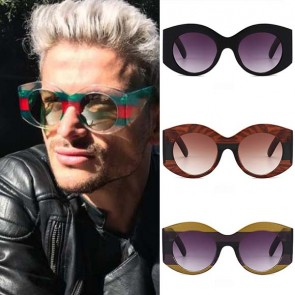 Vintage inspired dapper bold round oversize spectacle