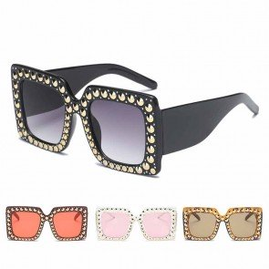 Oversized lenses square contemporary sleek sunglasses