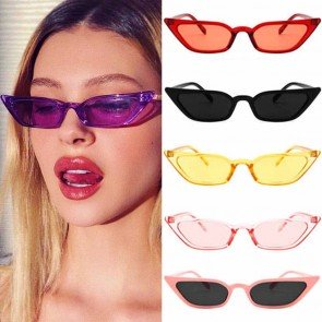 Small Pointy Cat Eye Sunglasses Tiny Fruit Color Frame