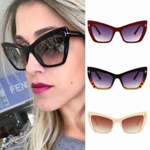 Trendy Luxury Cat Eye Sunglasses High Raised Frame