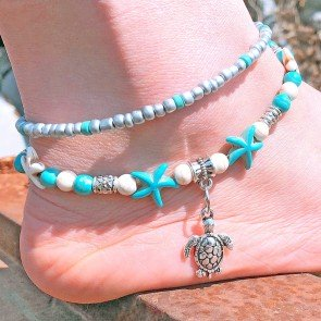 Bohemian Summer Beach Anklet Beads Foot Boho Jewelry