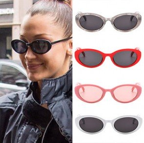Cute Retro Round Sunglasses Old-School Way Oval Shades