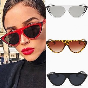 Ladies Cat's Eye Sunglasses Flat Top Two Tone Frame