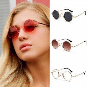 Super Vintage John Lennon Tiny Sunglasses Fashion Show