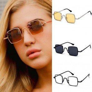 Vintage steam punk style small square sunglasses