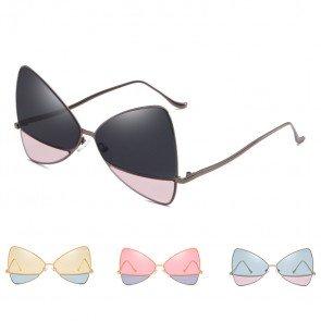 Women Butterfly Shape Sunglasses Oversize Split Lens